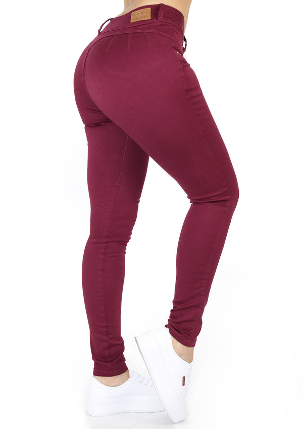 20000 Wine Skinny Jean by Maripily Rivera
