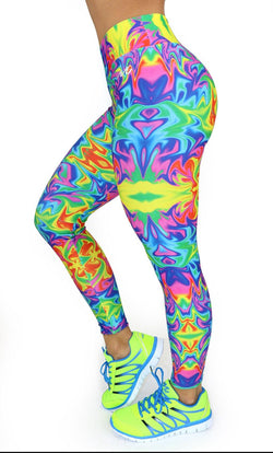 1073 Maripily Activewear Print Leggings