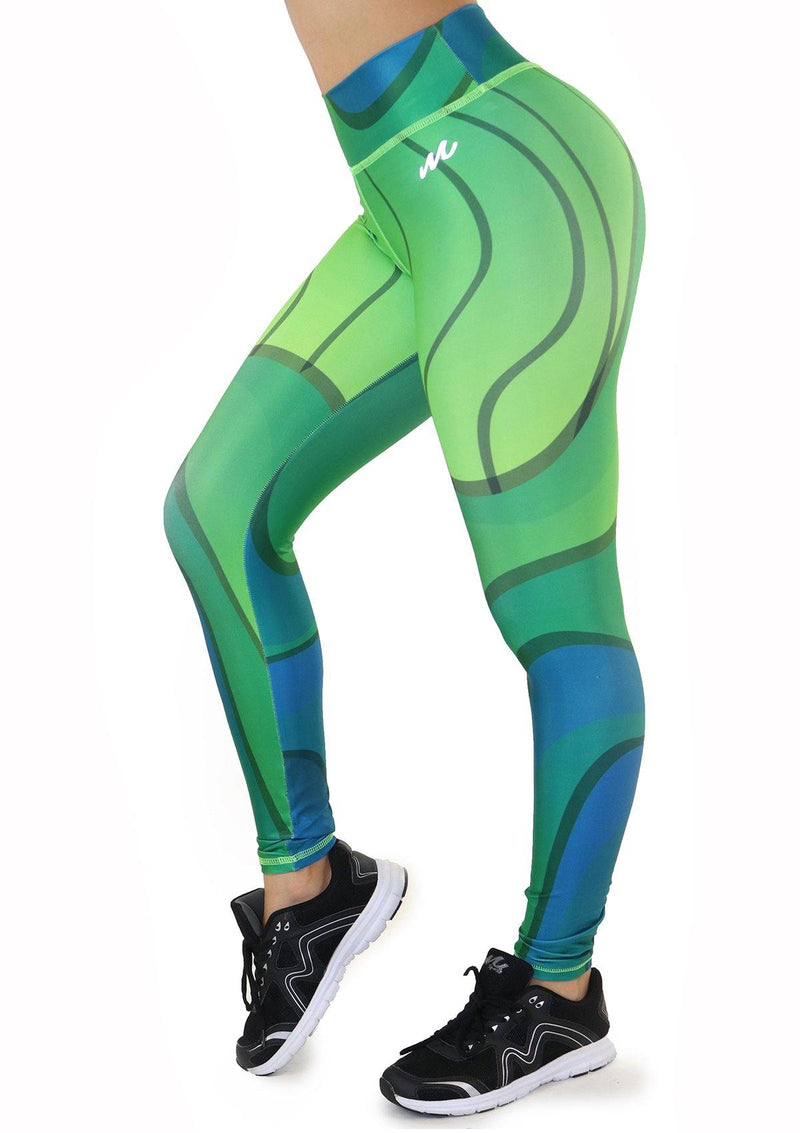 7132 Activewear Print Legging for woman by Maripily Rivera - Pompis Stores