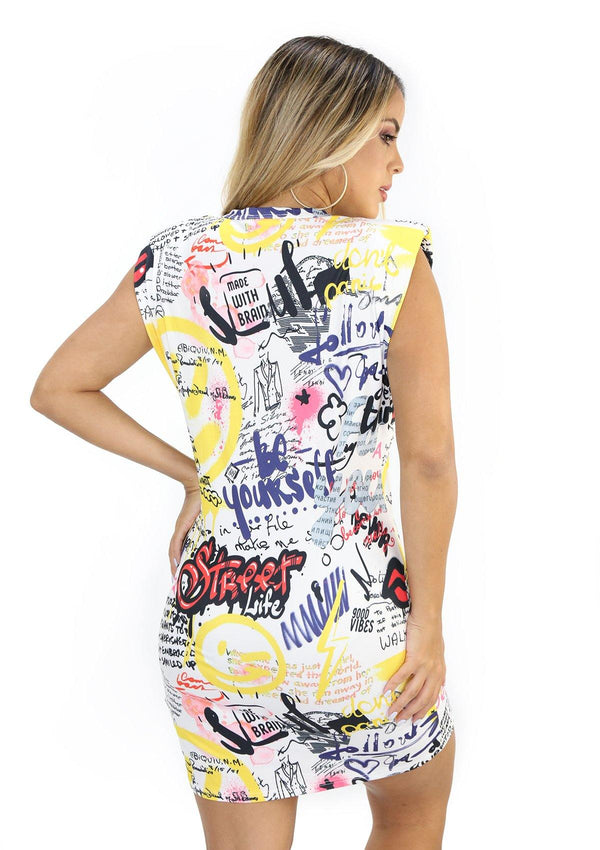 NYD1163 Urban Print Traje Corto de Mujer by Scarcha - Pompis Stores
