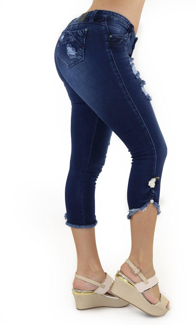 1098 Scarcha Women Denim Capri