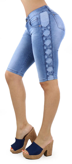 1112 Scarcha Women Denim Capri
