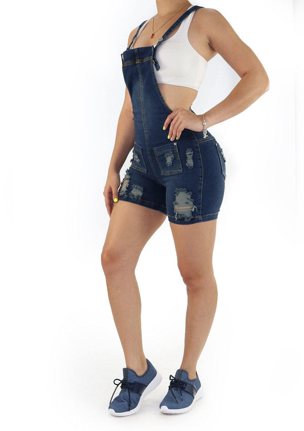 1231 Denim Short Overall  by Scarcha