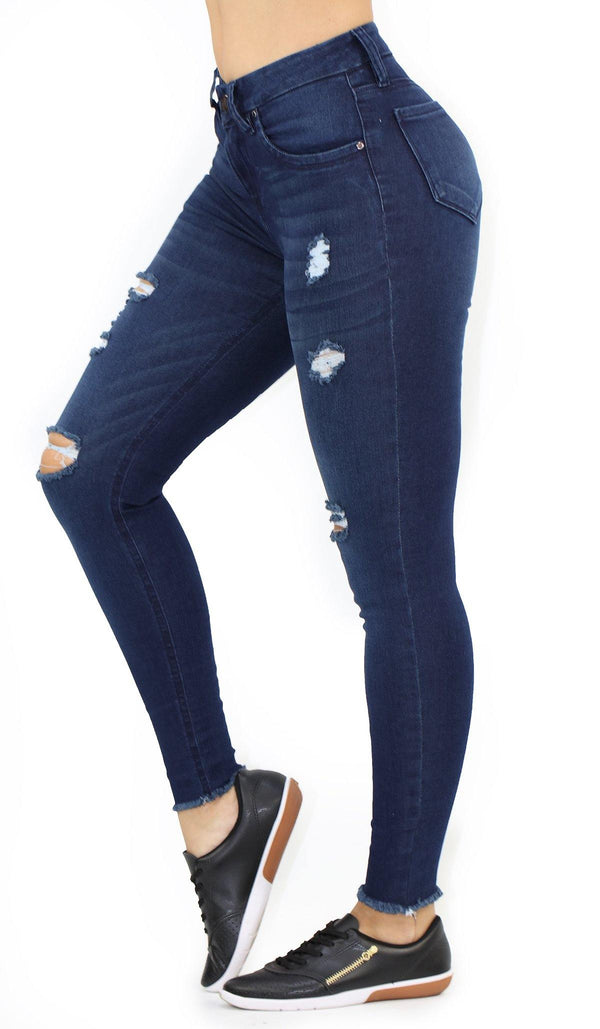 1494 Destroyed Scarcha Women Skinny Jean (Curvy Bajo) - Pompis Stores