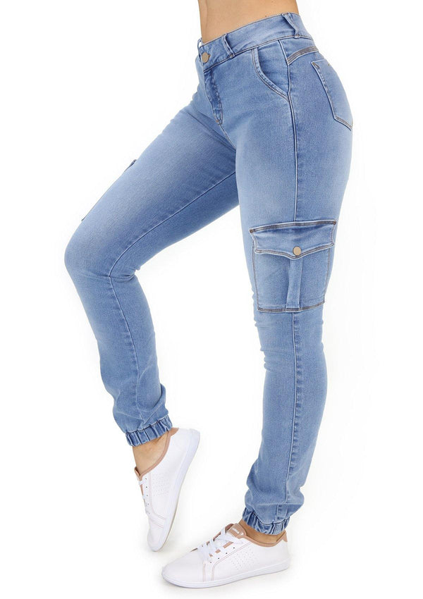 1506 Cargo/Jogger  Scarcha Women Skinny Jean - Pompis Stores