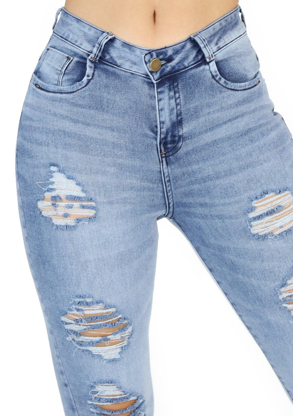 1520 Destroyed Scarcha Women Skinny Jean - Pompis Stores