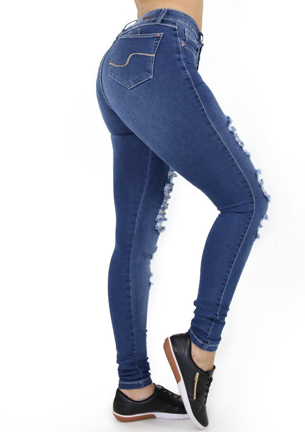 1521 Destroyed Scarcha Women Skinny Jean - Pompis Stores