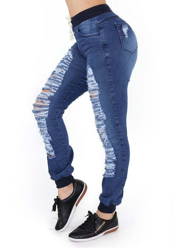 1546 Destroyed Scarcha Women Jeans Jogger - Pompis Stores