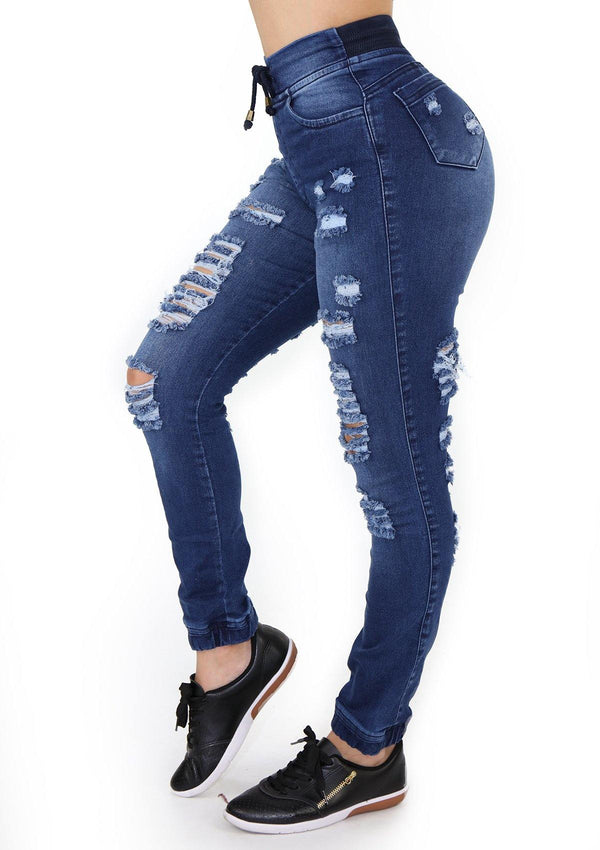 1547 Destroyed Scarcha Women Jeans Jogger - Pompis Stores