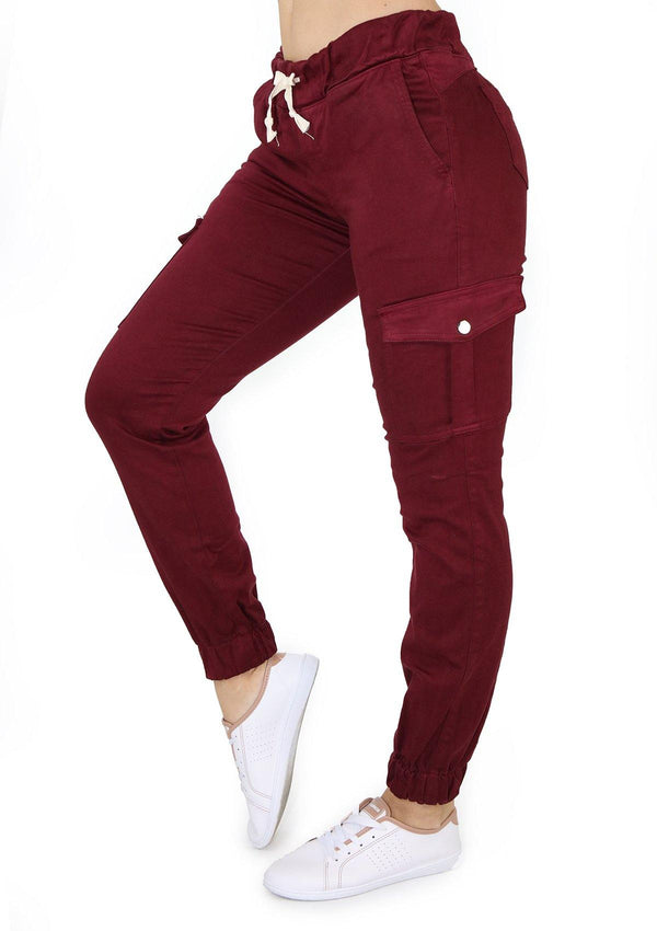 1569 Wine Scarcha Women Jogger/Cargo - Pompis Stores