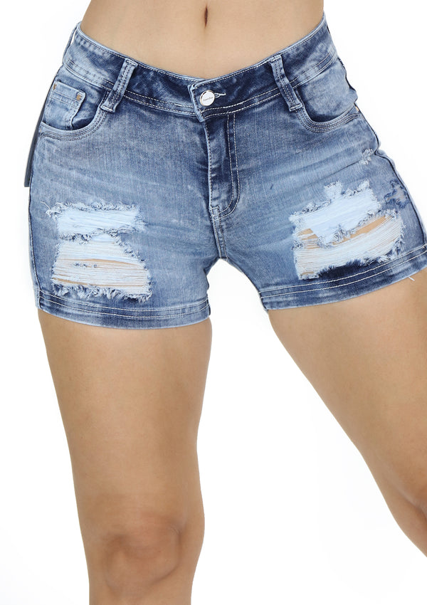 1641 Destroyed Short Jean by Scarcha