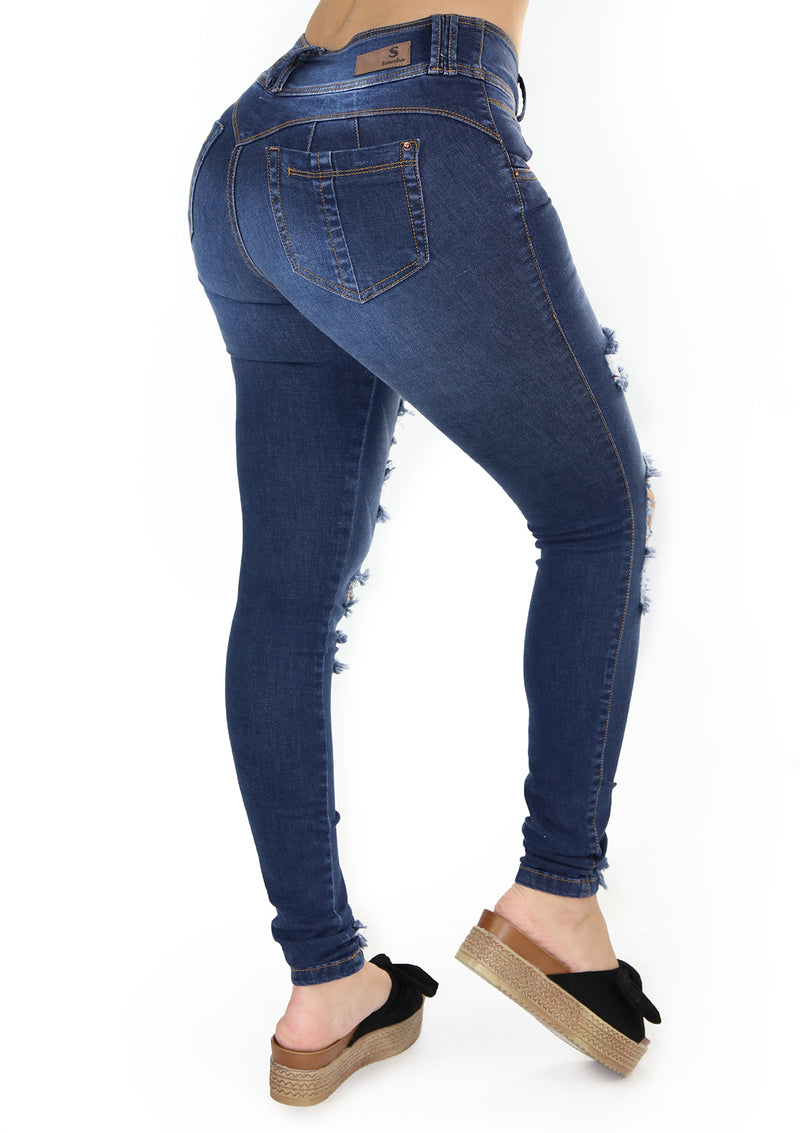 1646L Destroyed Skinny Jean Woman by Scarcha