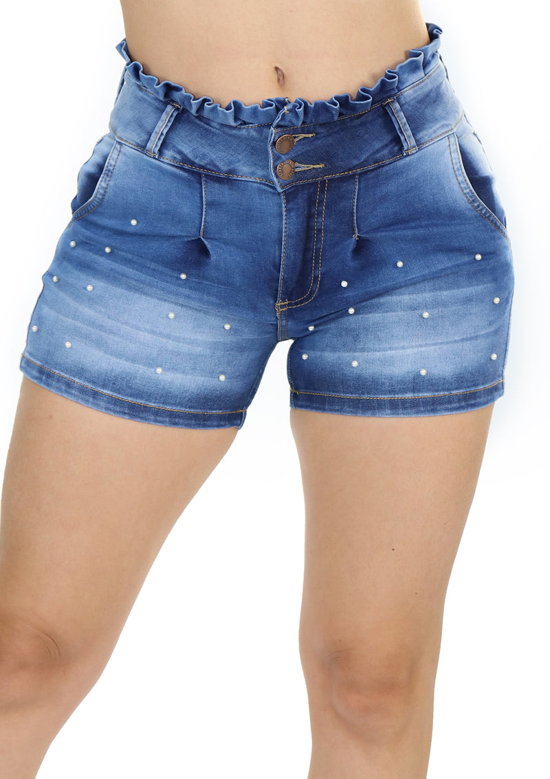 1670 Pearls Short Jean by Scarcha