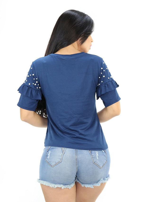 SC5204 Blue Blusa de Mujer by Scarcha