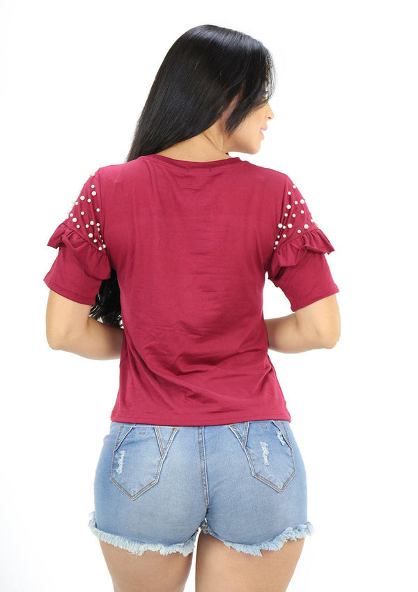 SC5204 Burgundy Blusa de Mujer by Scarcha