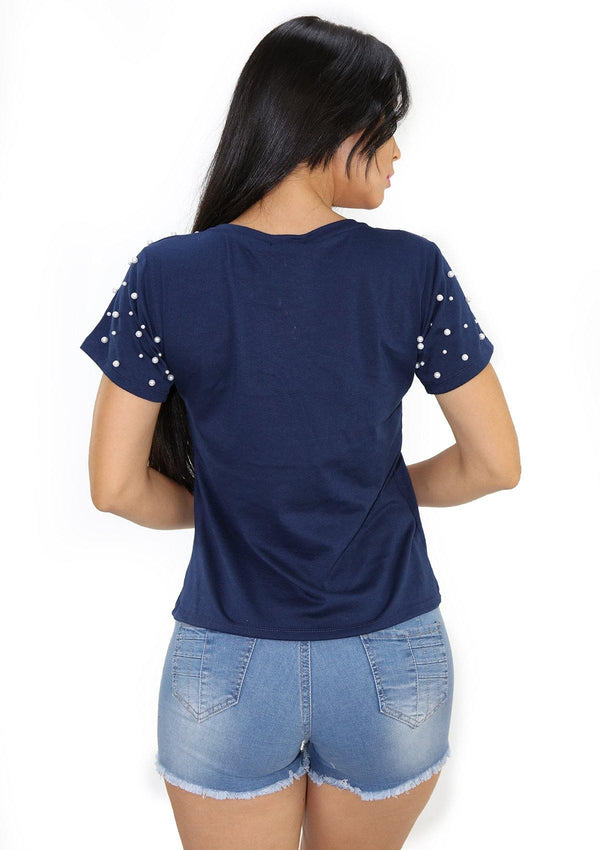 SC5209 Blue Blusa de Mujer by Scarcha