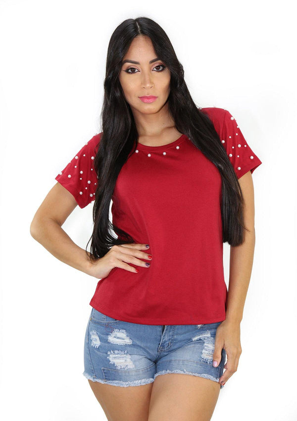 SC5209 Burgundy Blusa de Mujer by Scarcha
