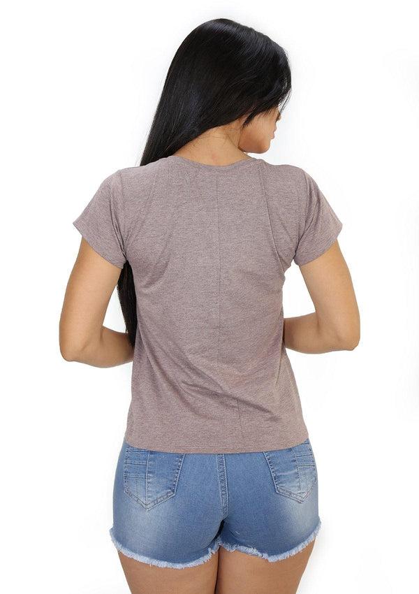 SC5212 Light Brown Blusa de Mujer by Scarcha