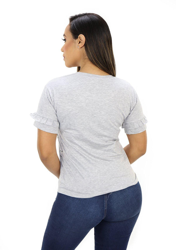 SC5221 Gray Blusa de Mujer by Scarcha