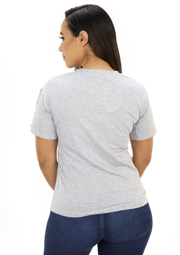 SC5223 Gray Blusa de Mujer by Scarcha