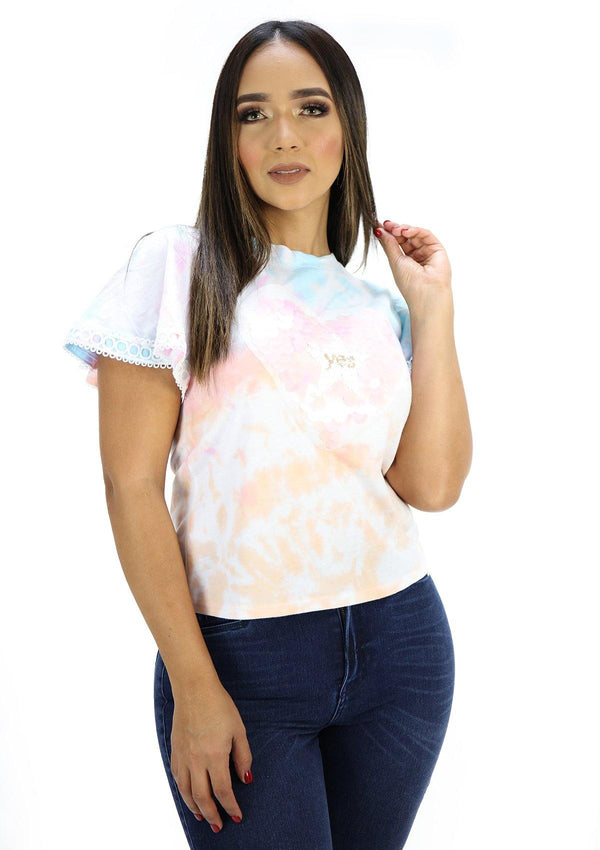 SC5230 Tie Dye Yes Blusa de Mujer by Scarcha - Pompis Stores