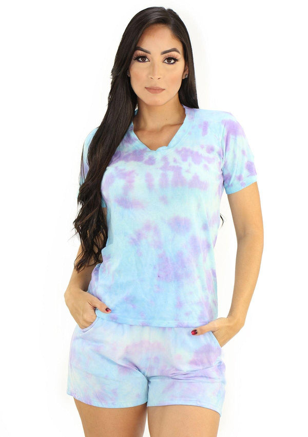 SC5237 Tie Dye Set Multiuso de Mujer by Scarcha - Pompis Stores