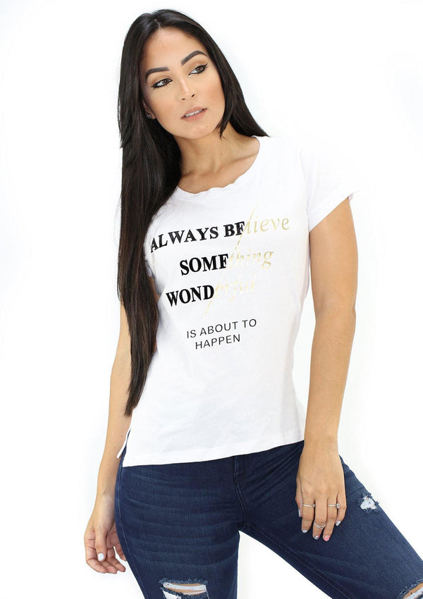 SC5239 Always Believe Blusa de Mujer by Scarcha - Pompis Stores
