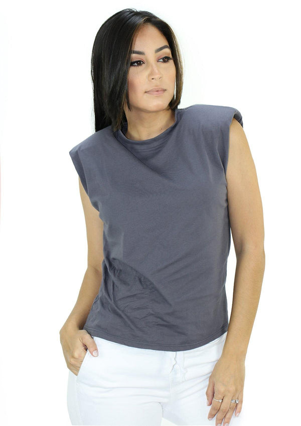 SC5257 Dark Gray Blusa de Mujer by Scarcha - Pompis Stores