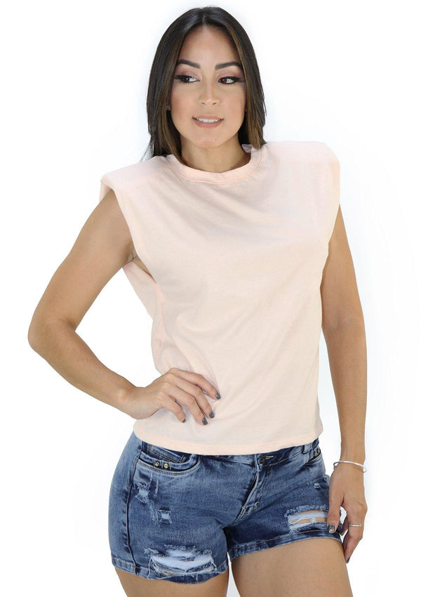 SC5257 Peach Blusa de Mujer by Scarcha - Pompis Stores