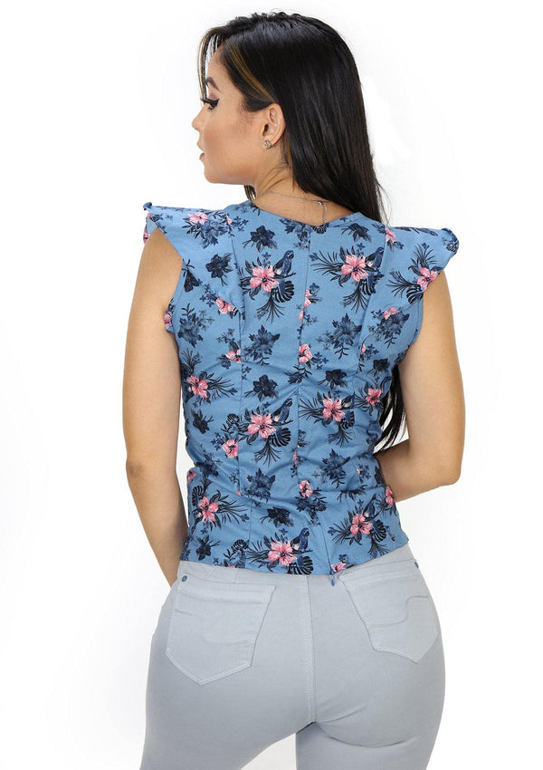 SC5258 Floral Blusa de Mujer by Scarcha - Pompis Stores