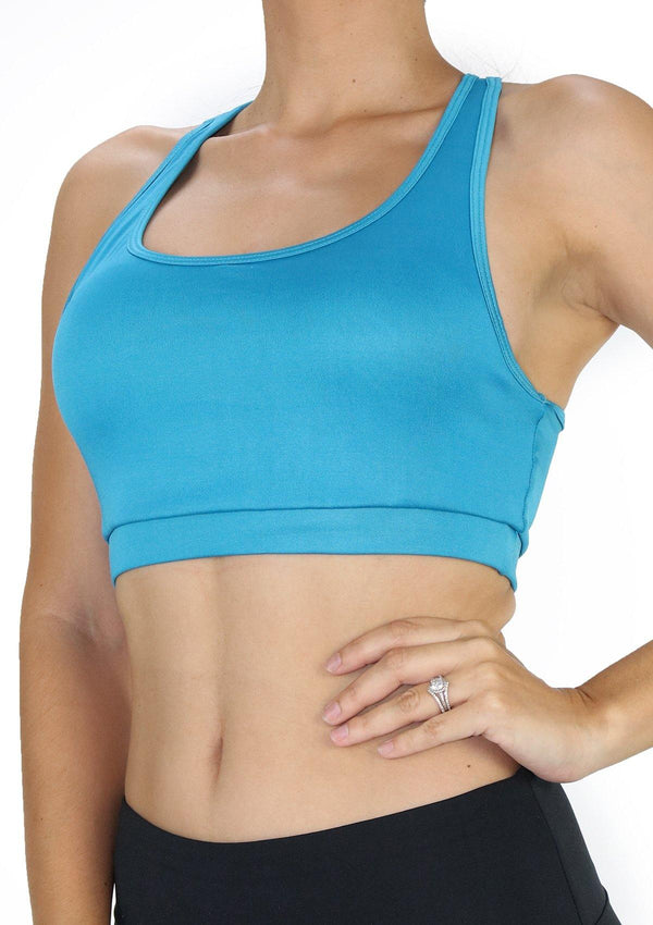 SC6243 Turquoise Sport Bra by Scarcha - Pompis Stores