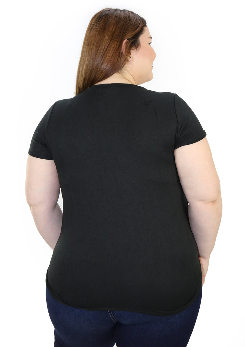 SCBLT1597 Blusa de Mujer Plus Size by Scarcha