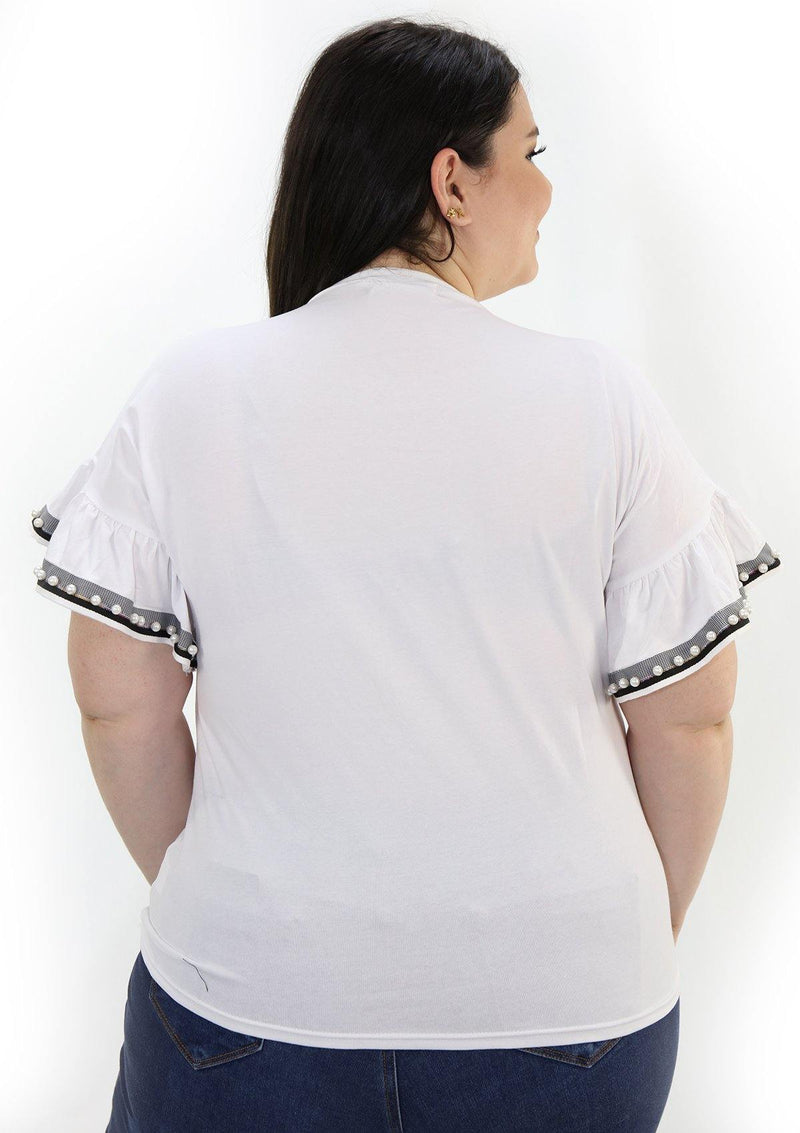 SCINQP824PL White Blusa de Mujer by Scarcha