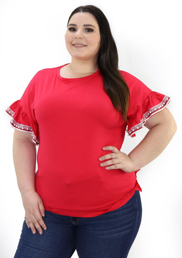 SCINQP824PL Red Blusa de Mujer by Scarcha