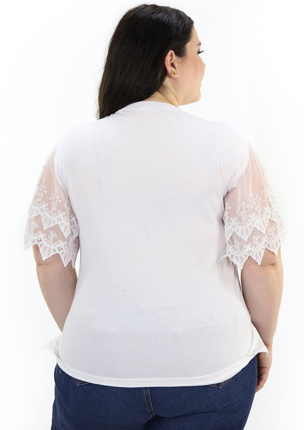 SCINQP913APL White Blusa de Mujer by Scarcha