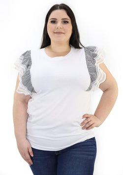 SCINXP168PL White Blusa de Mujer by Scarcha