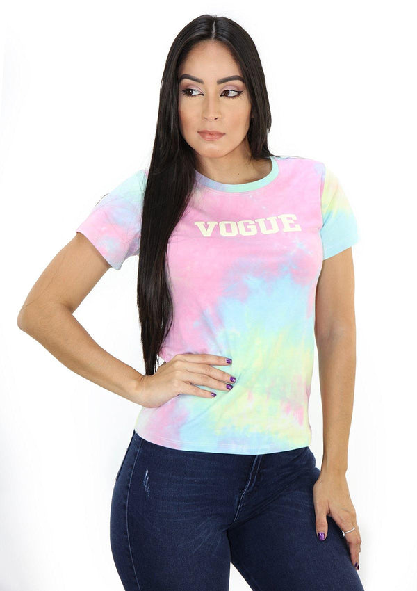 SCLD1256 VOGUE Tie Dye Blusa de Mujer by Scarcha - Pompis Stores