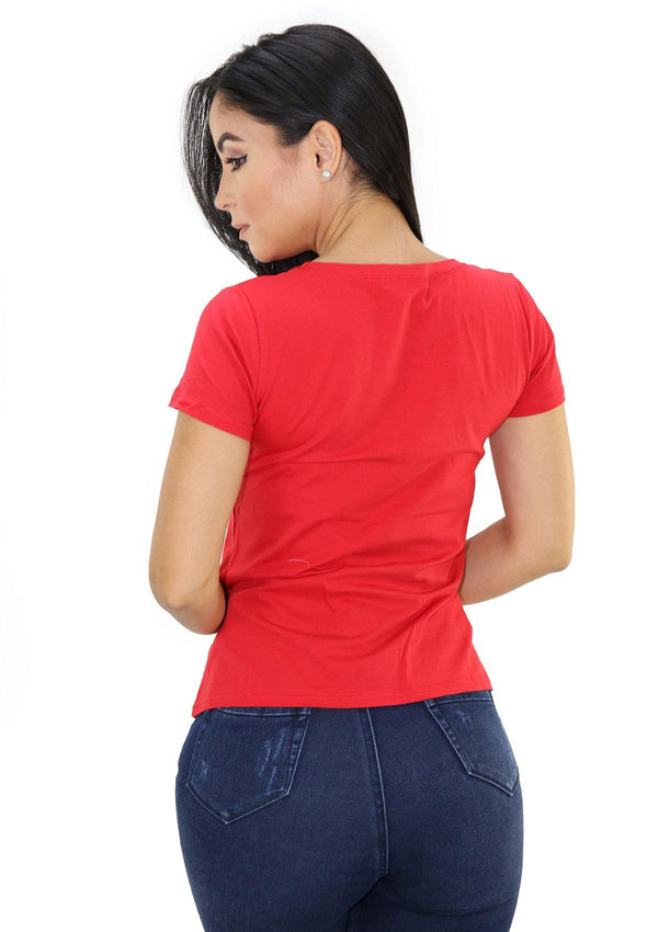SCLD1751 Red AMOUR Blusa de Mujer by Scarcha - Pompis Stores