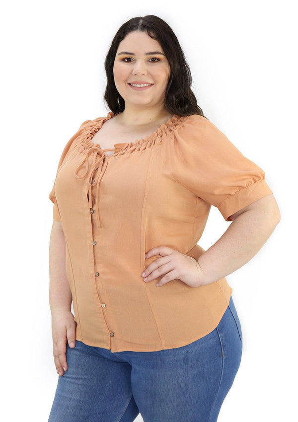 SCMIPTB5350 Brown Blusa de Mujer by Scarcha