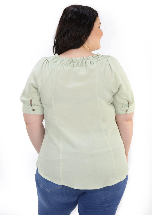 SCMIPTB5350 Green Blusa de Mujer by Scarcha