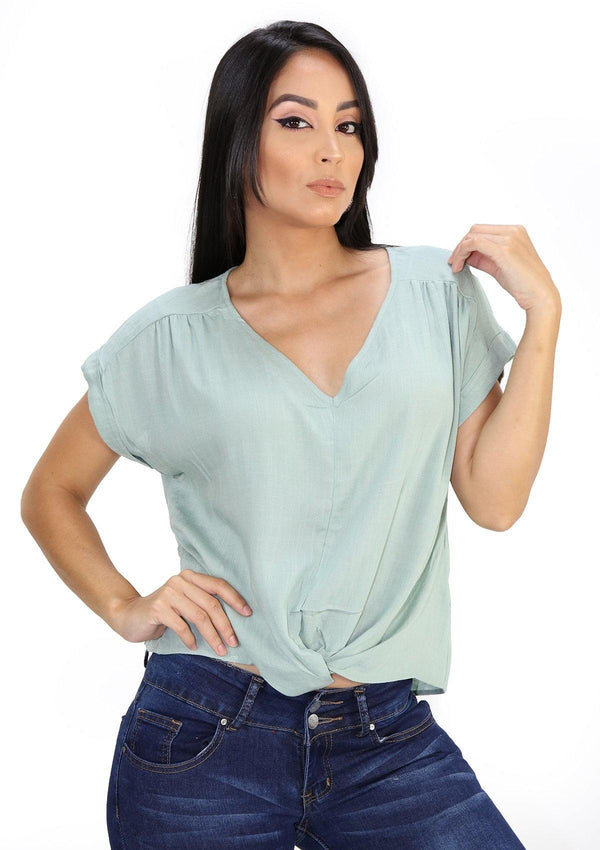 SCMITB4456 Green Blusa de Mujer by Scarcha