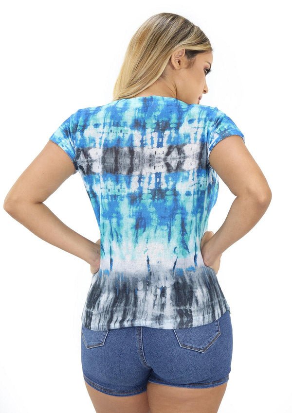 SCNYT011 Tie Dye Blusa de Mujer by Scarcha - Pompis Stores