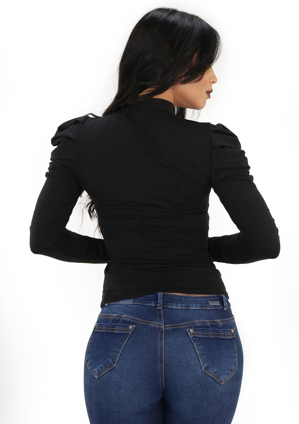 SCNYT1013-1 Black Blusa de Mujer by Scarcha - Pompis Stores