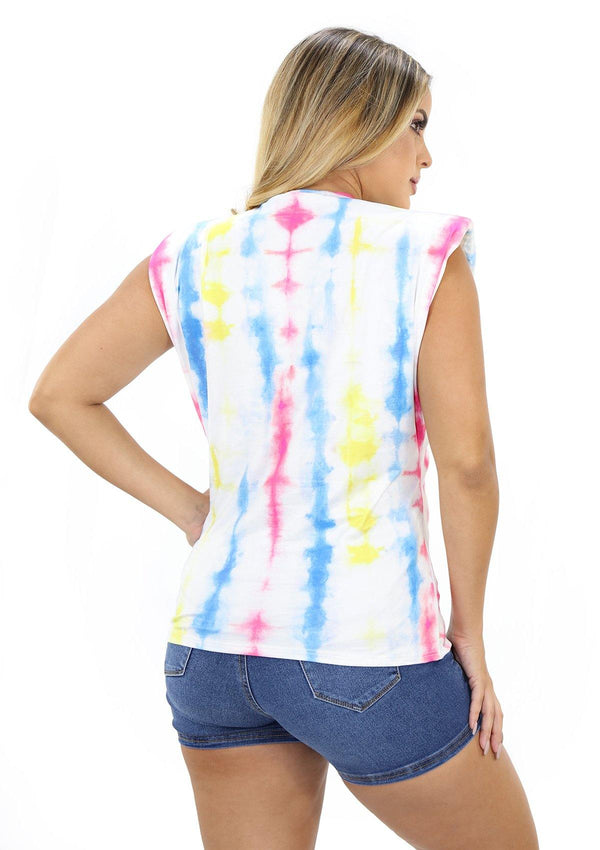 SCNYT1154 Tie Dye Blusa de Mujer by Scarcha - Pompis Stores