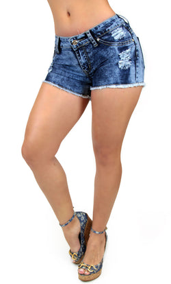 TDS5 Destroyed Denim Short Trendy by Keila Hernandez