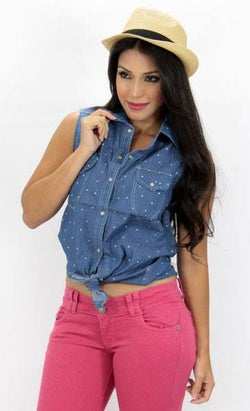 1019 Cami Blouse by Barbara Bermudo - Pompis Stores