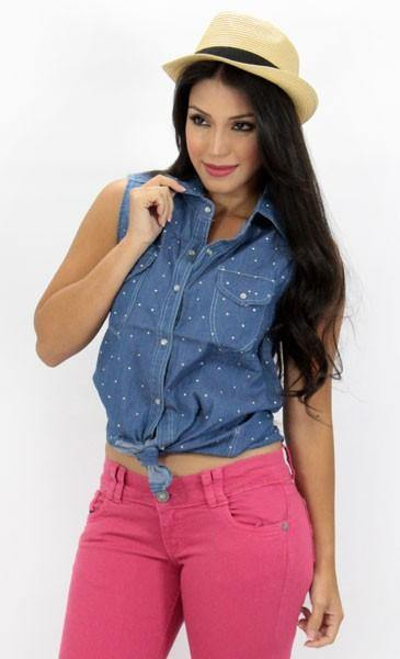 1019 Cami Blouse by Barbara Bermudo