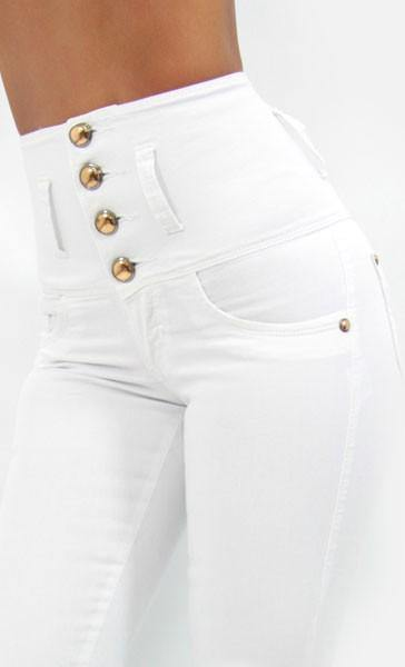 LAST ONE 17322 Maripily High Waist Skinny Jean - Pompis Stores