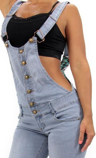 LAST ONE 17328 Maripily Denim Overall - Pompis Stores