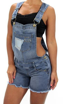 17292 Maripily Denim Short Overall